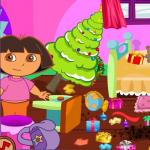 Baby Dora Clean The House
