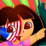 Dora 4th of July Face Painting