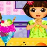Dora Blueberry Ice Cream