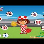 Dora World Cup Dressup Games