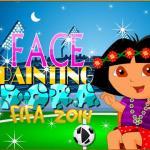 Face Painting Dora FIFA 2014